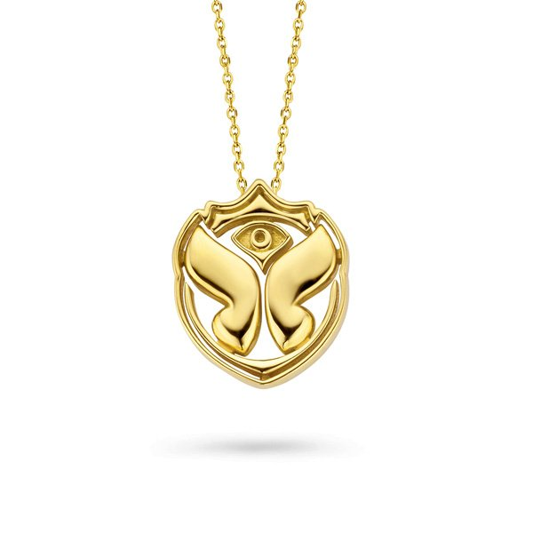 Tomorroland Hanger geel goud Icon necklace