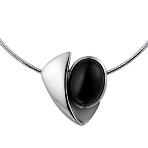 halsketting met moderne hanger onyx