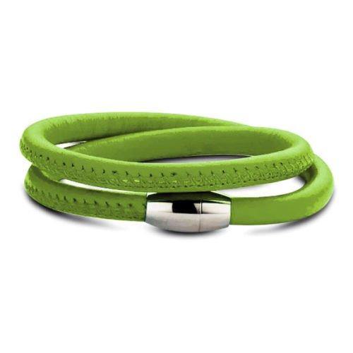 leder armband groen